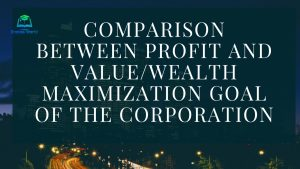 Comparison between Profit and Value/Wealth Maximization Goal of the Corporation