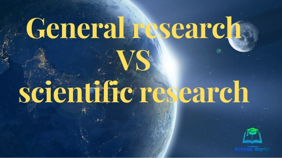 General Research VS Scientific Research