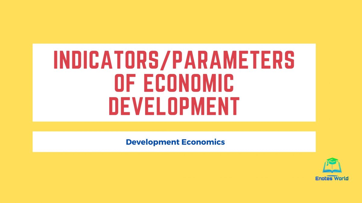 Indicators/Parameters of Economic Development