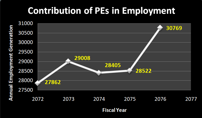 Contribution of PEs in Employment of Nepal