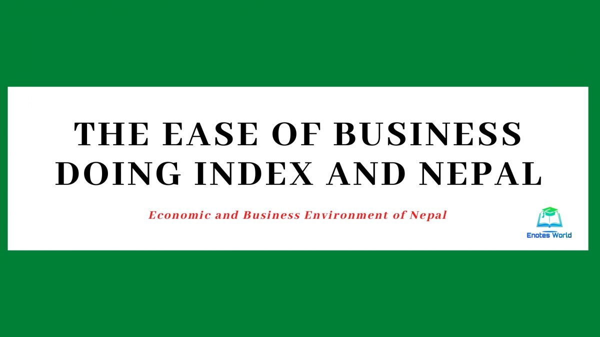 The Ease of Business Doing Index and Nepal