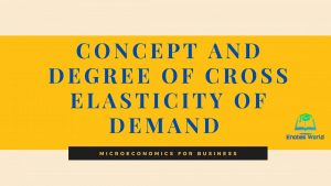 Concept and Degree of Cross Elasticity of Demand