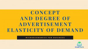 Concept and Degree of Advertisement Elasticity of Demand