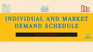 Individual and Market Demand Schedule