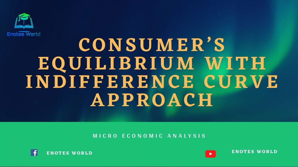 Consumer's Equilibrium with Indifference Curve Approach