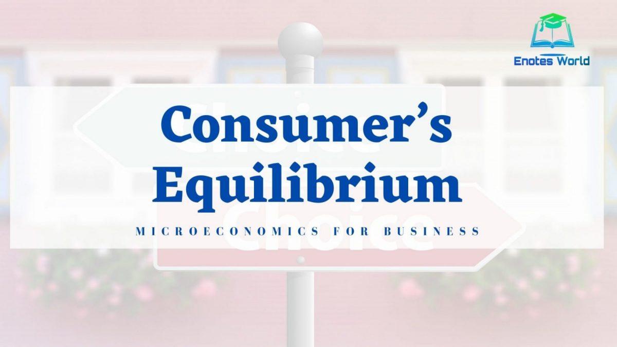 Consumer's Equilibrium