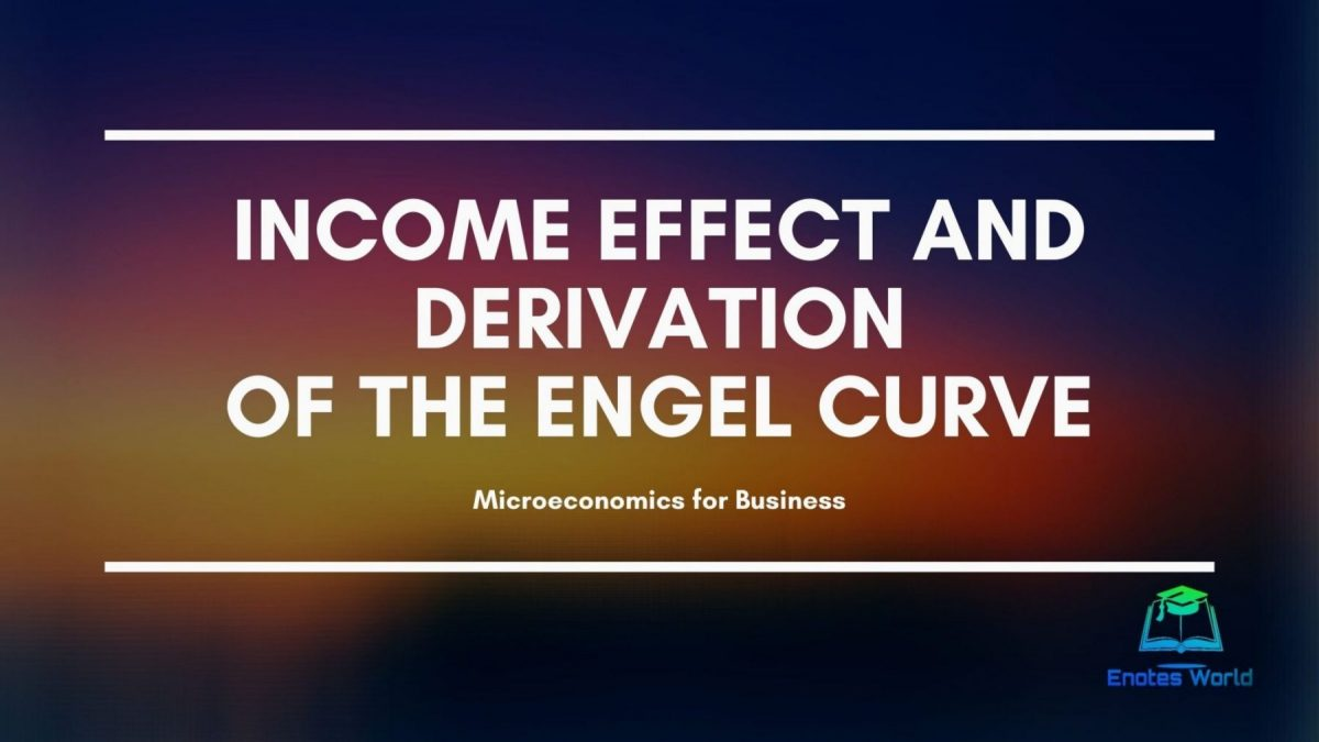 Income Effect and Derivation of the Engel Curve