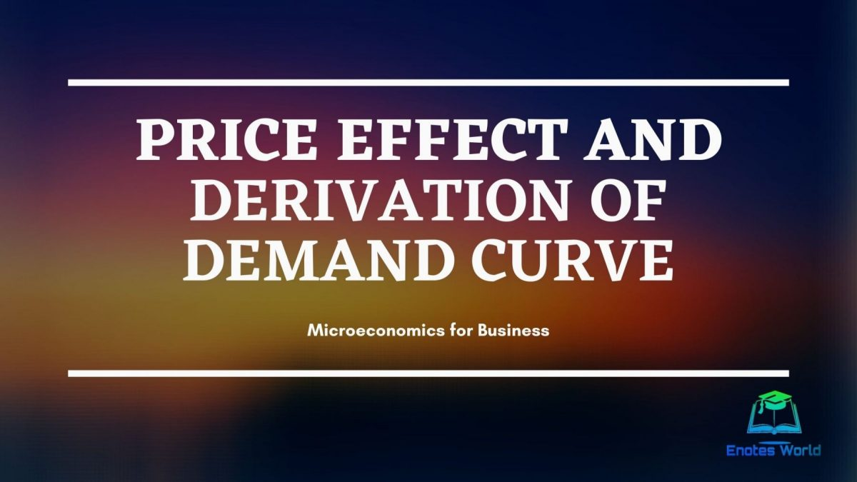 Price Effect and Derivation of Demand Curve