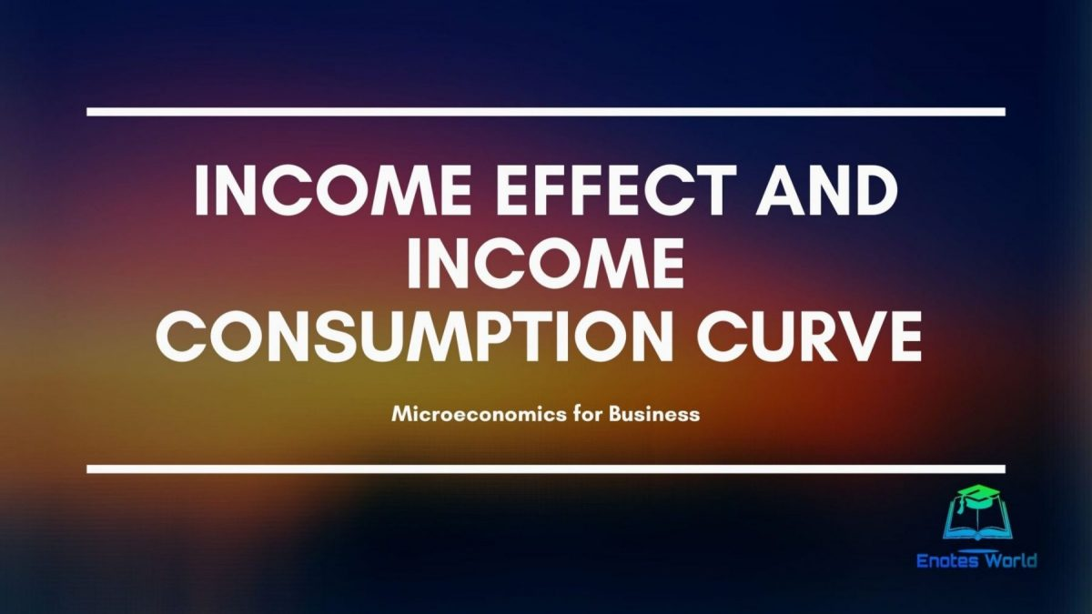 Income Effect and Income Consumption Curve