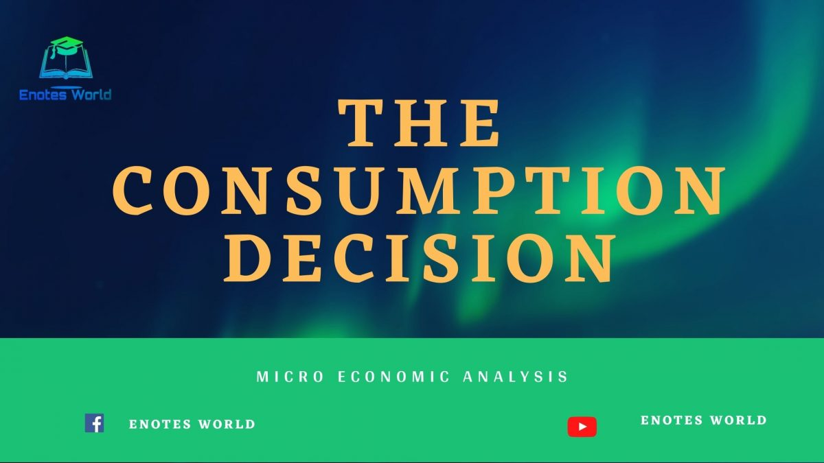 The Consumption Decision