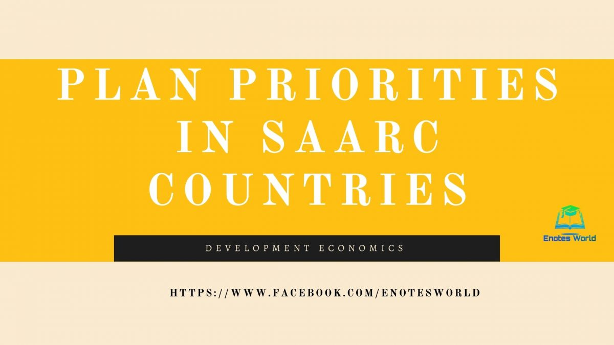 Plan Priorities in SAARC Countries