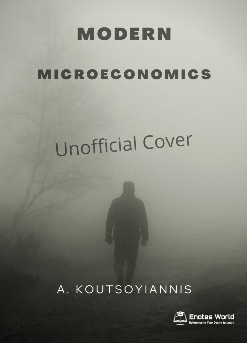 Modern Microeconomics by A. Koutsoyiannis