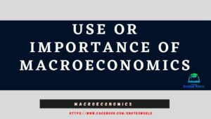 Use or Importance of Macroeconomics