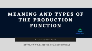 Meaning and Types of the Production Function